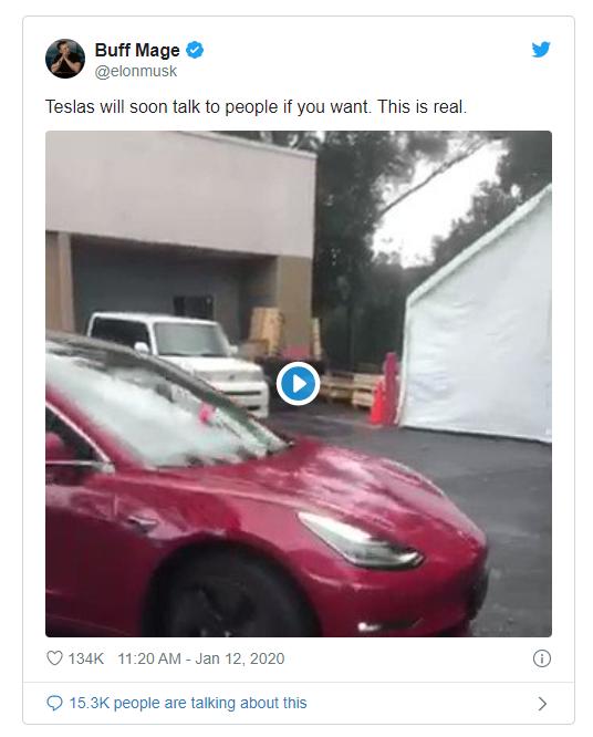 """马斯克:特斯拉汽车不久后将会""""说话"""",还会提醒行人车辆正在靠近"""