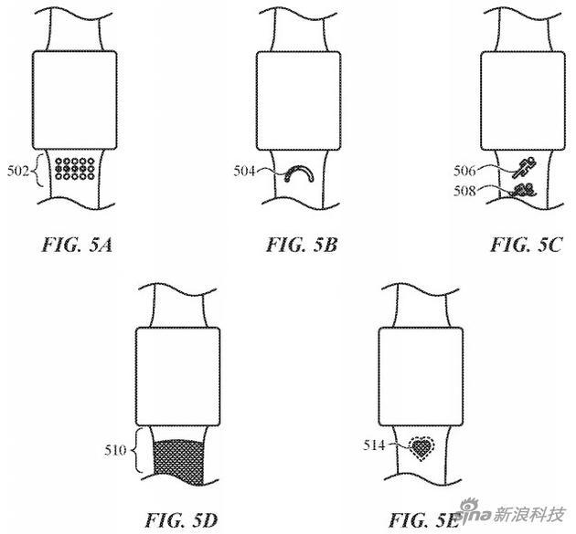 Apple Watch表带新专利来袭:生物识别,自动收紧等