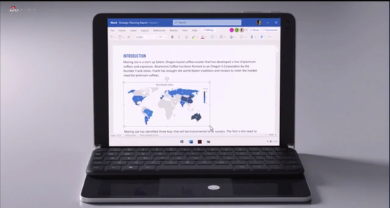 微軟發布首款折疊屏電腦Surface Neo
