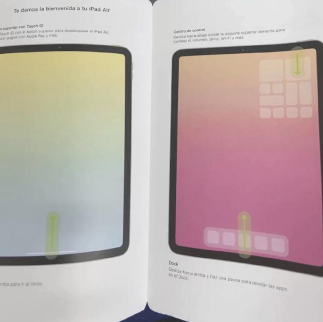 疑似新iPad Air说明书曝光:全面屏设计 电源键集成Touch ID