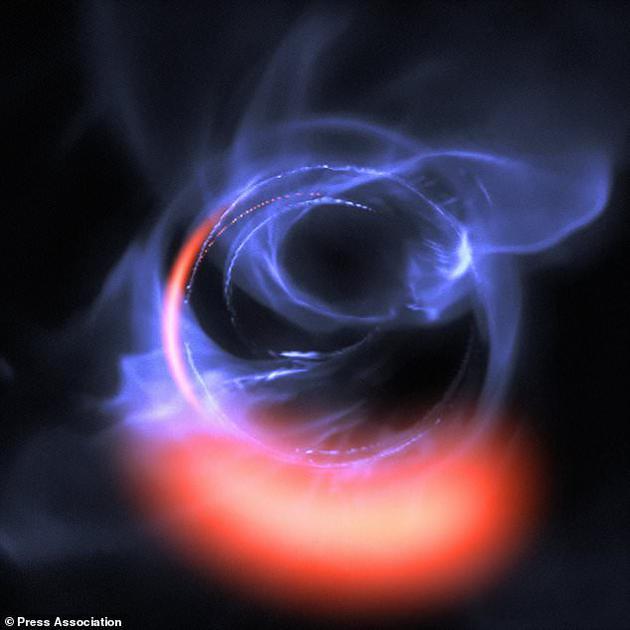 欧洲南方天文台研究人员使用特殊天文设备观测人马座A,这是银河系中心超大质量天体。他们观测到旋转气团以三分之一光速的速度在黑洞视界外部一个圆形轨道周围运行。