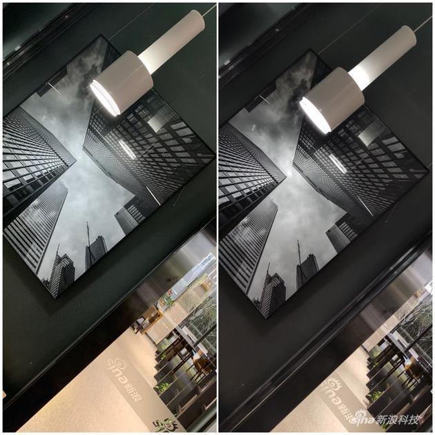 左为iPhone XS拍摄 右为米9拍摄