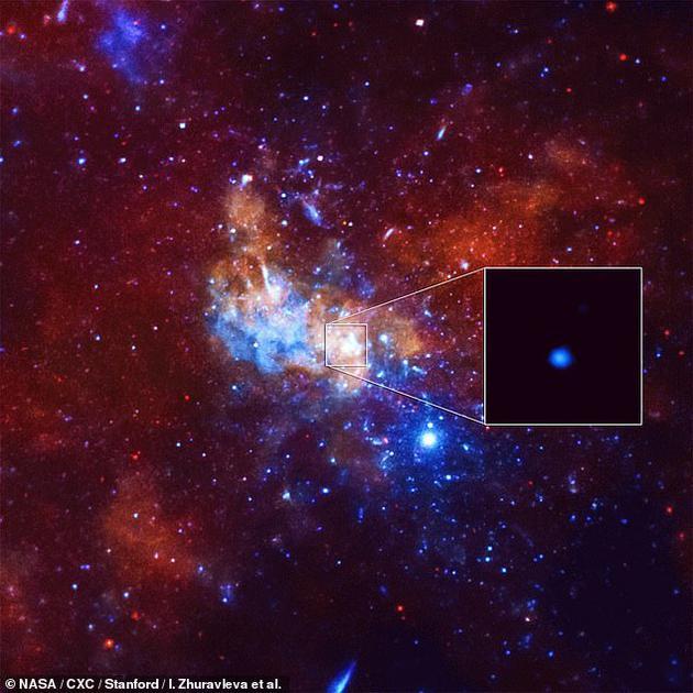 银河系中心来自人马座A*的X射线闪光