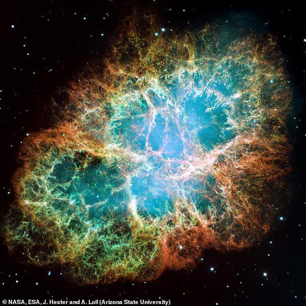 蟹狀星云,此次發現的超高能級光子就來自于這里,這是一個超新星爆發的遺跡