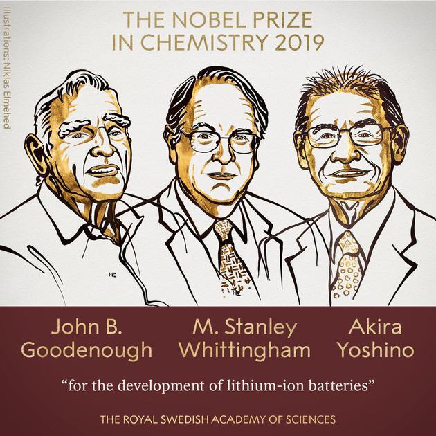 详解2019诺贝尔化学奖:他们发明了世界最强大的电池