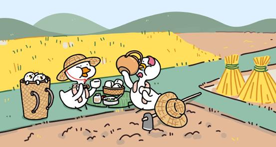 巫巴多创作的形象:不鸭和啵鸡