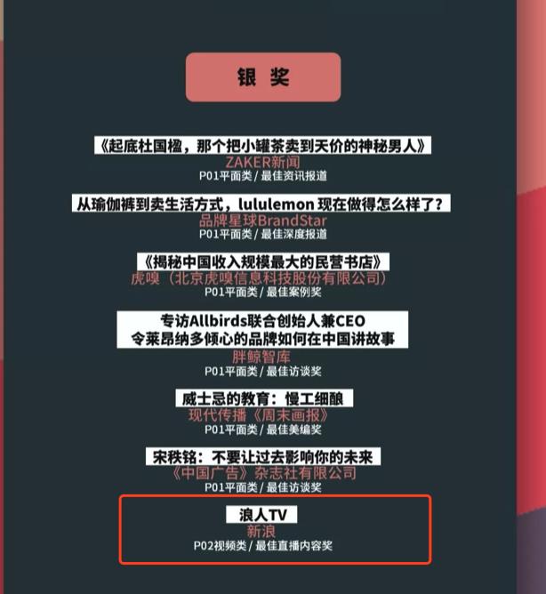 #浪人TV#喜提第四届金投赏商业创意产业报道奖的银奖