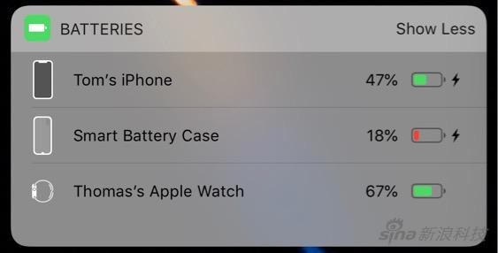 iOS 12.1.2出现电池马甲的图标