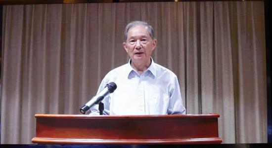 中国科学院院士、北京大学生命科学学院教授朱作言视频祝贺大会召开