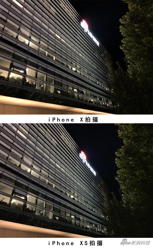 夜拍图片对比