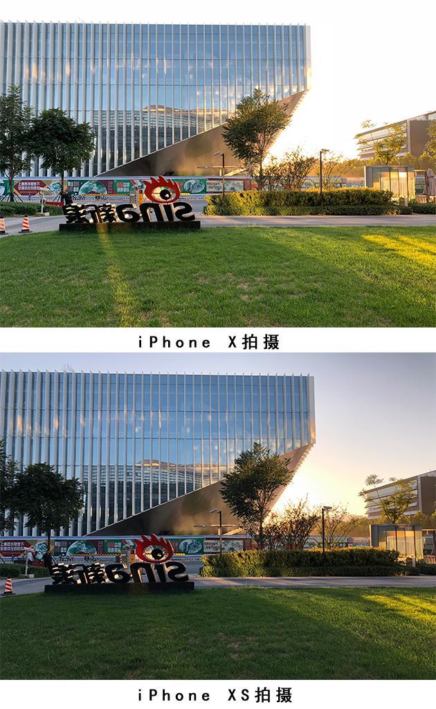 iPhone X和XS开启HDR室外逆光拍摄对比