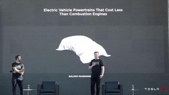 售价2.5万美元的特斯拉电动汽车来源:特斯拉