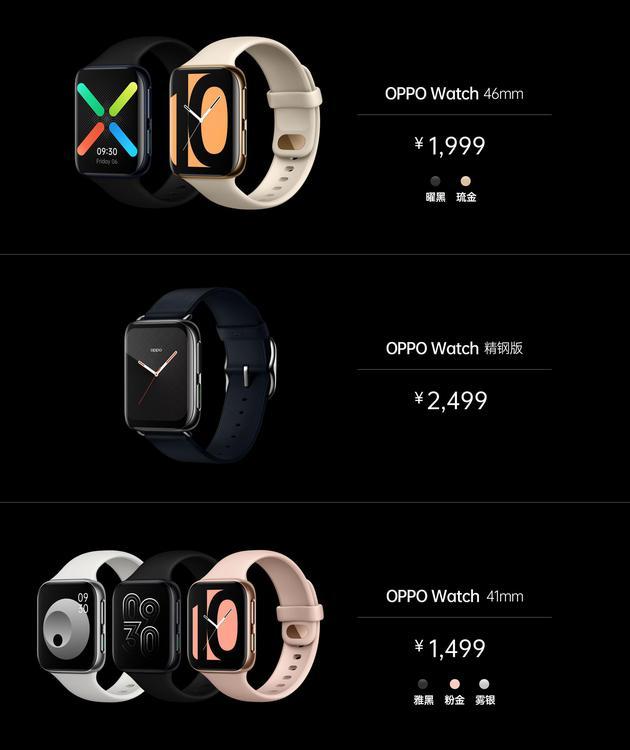 OPPO Watch定价(46毫米版本)