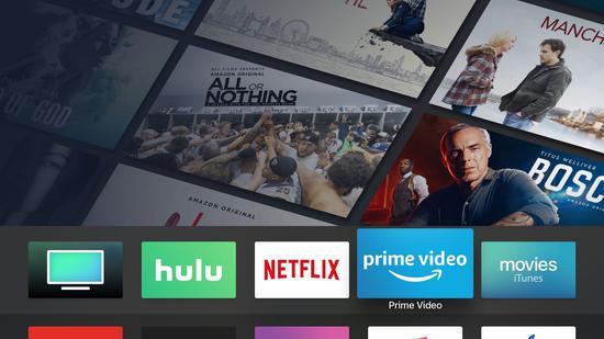 亚马逊的 Prime Video App 在苹果 Apple TV 上运走 | 官方供图