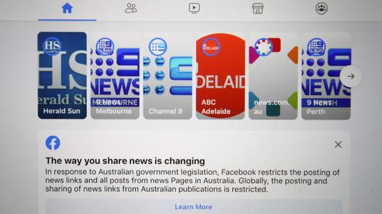 Facebook 禁止澳洲用户查看和分享新闻:澳总理表示绝不妥协