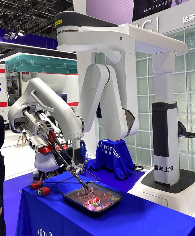 达芬奇SP手术机器人。摄影:徐宁