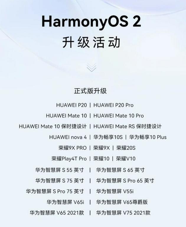 25款机型受益 华为HarmonyOS 2推送新一轮正式版