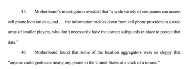 因出售消费者位置数据:美四大电信公司遭集体诉讼