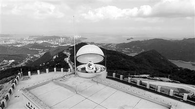 """""""天琴计划""""激光测距台站望远镜运行良好 中山大学宣传部供图"""