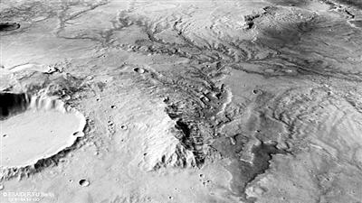 火星上古老的河谷网络。 图片来源:欧洲空间局网站