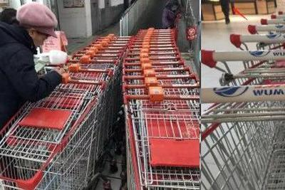 CCTV online review: even supermarket trolleys can't be unlocked without app! Why?