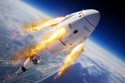 马斯克空中炸毁火箭,成功实现载人舱逃逸测试