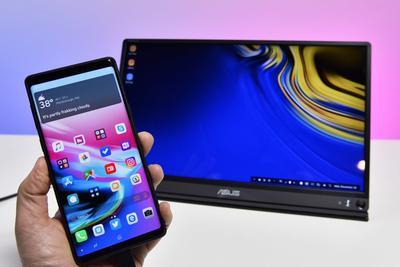 报道称LG和三星都在为智能手机开发便携式显示屏配件