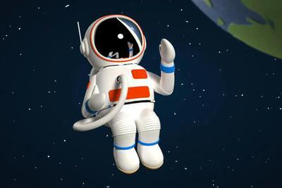图| 宇航员卡通图(来源:ICphoto)