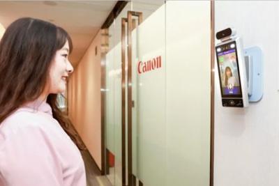佳能中国办公室安装AI相机 员工微笑才可进入