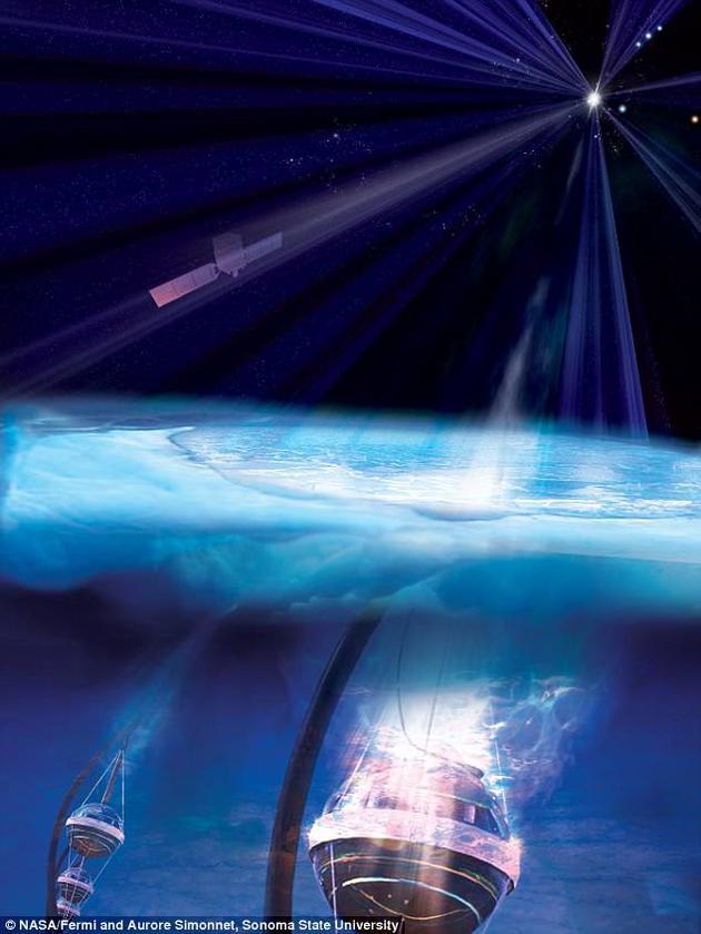NASA费米望远镜在寻找该中微子来源黑洞的竞赛中拔得了头筹。
