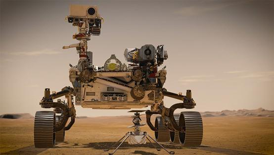 几周之后,毅力号将把机智号部署在火星表面