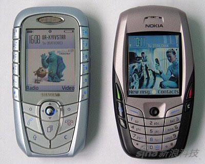 那个时代,跟SX1同台竞技的是诺基亚胖6,西门子的手机更漂亮