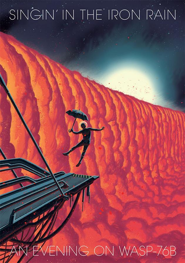 瑞士插画家弗雷德里克__佩特斯(Frederik Peeters)对Wasp-76b行星进行描绘。