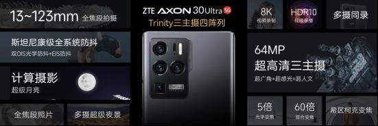 中兴Axon 30系列开售 6400万三主摄旗舰开启新纪元
