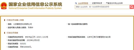 擅自发布未审核广告 爱奇艺被罚款10万元