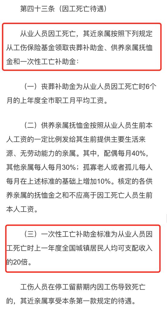 《上海市工伤保险条例工伤保险条例》规定,图源:上海市人力资源和社会保障局