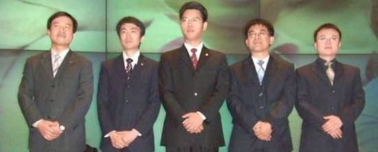 当年金山五虎,左起为:湛振阳、朱勇、邹涛、陈飞舟、刘鹏