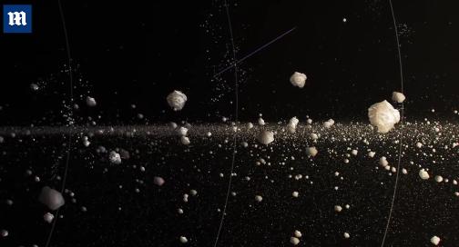 """美国宇航局戈达德太空飞行中心詹姆斯?奥多诺霍(JamesO'Donoghue)称,我们估计土星环上的""""环雨""""会产生大量的水,这些水甚至能填满一个奥运会游泳池。"""