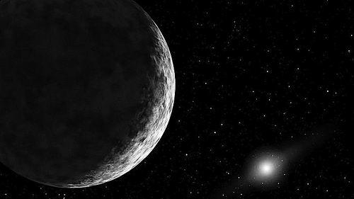 太阳系中最远的天体与太阳的距离是地球的140倍。图片来源:NASA/JPL-CALTECH