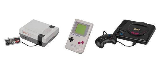 图左:美版FC图中:Game Boy 图右:MD