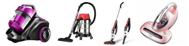▲4种有线吸尘器类型:卧式、桶式、手持(立式)、除螨仪