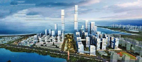 深圳湾超级总部基地效果图