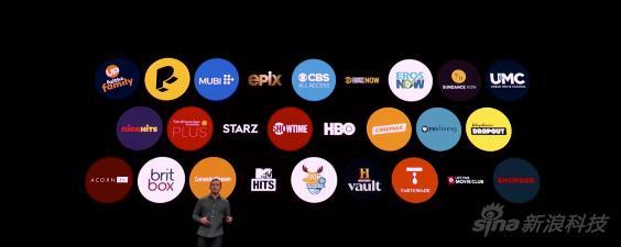 Apple TV的内容提供方们