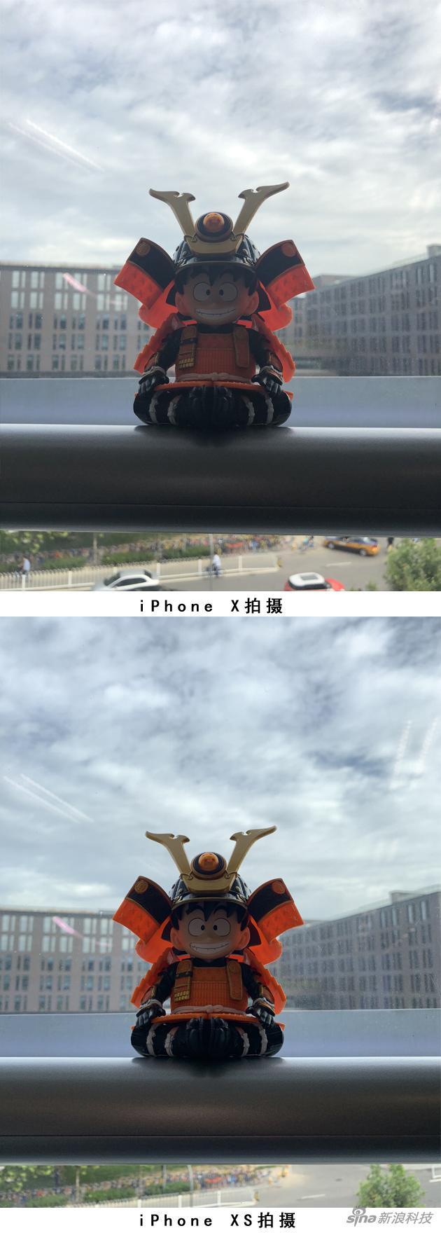 iPhone X和XS开启HDR逆光拍摄对比(对焦点均是小悟空脸部)