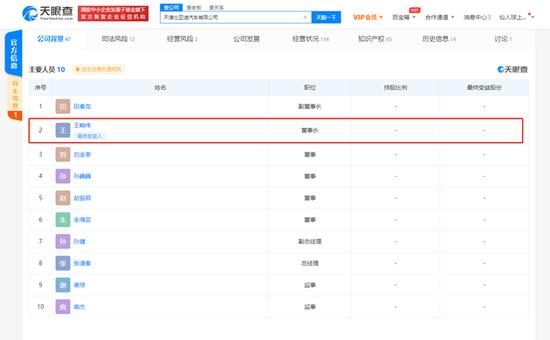 王传福退出天津比亚迪汽车有限公司 已退出多家比亚迪关联公司