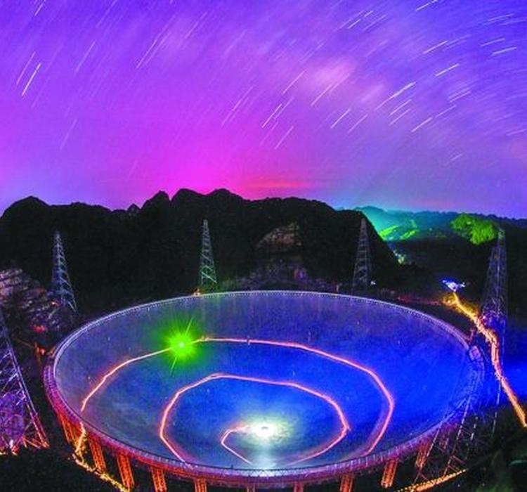 贵州射电天文望远镜_110米口径!中国又将建世界级望远镜QTT 望远镜 脉冲星 射电望远 ...