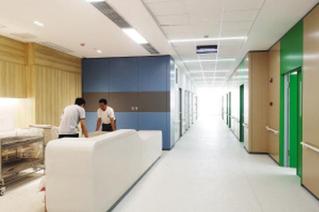 儿童医院马场院区建设进入尾声(图)