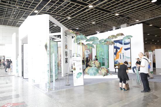 """2015""""艺术南京""""国际艺术博览会现场"""