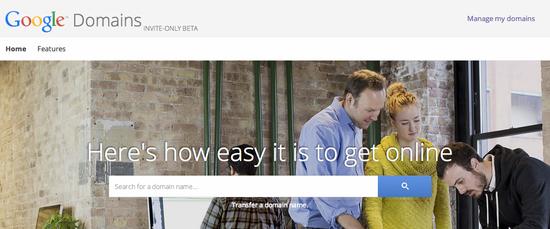 谷歌在美国开放域名注册服务