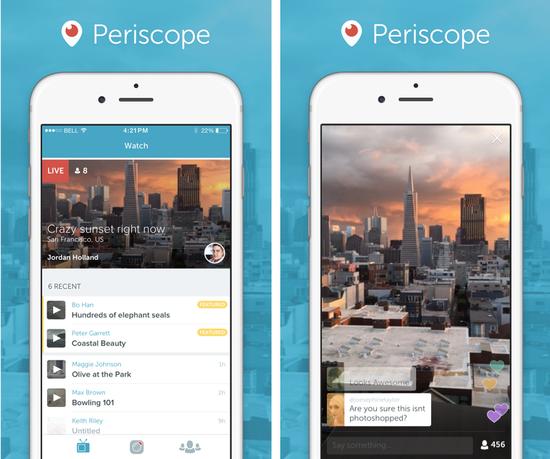 Twitter推出流媒体广播服务Periscope